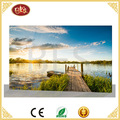 LED spring Lake scenery canvas home decor wall painting