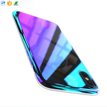 Hot selling Electroplating Mirror tpu clear phone case for iphone x