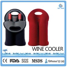 Neoprene material portable tote wine cooler bag