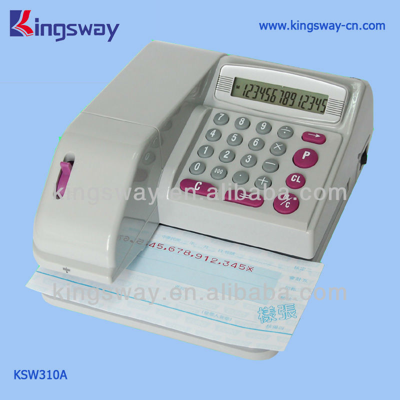 Electronic Portable Check Writer KSW310 For 16 Currency Symbols
