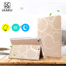 2017 KAKU High Quality Useful Colorful Tablet Smart Soft TPU Cover Flip PU Portable leather case with stand for ipad mini retina
