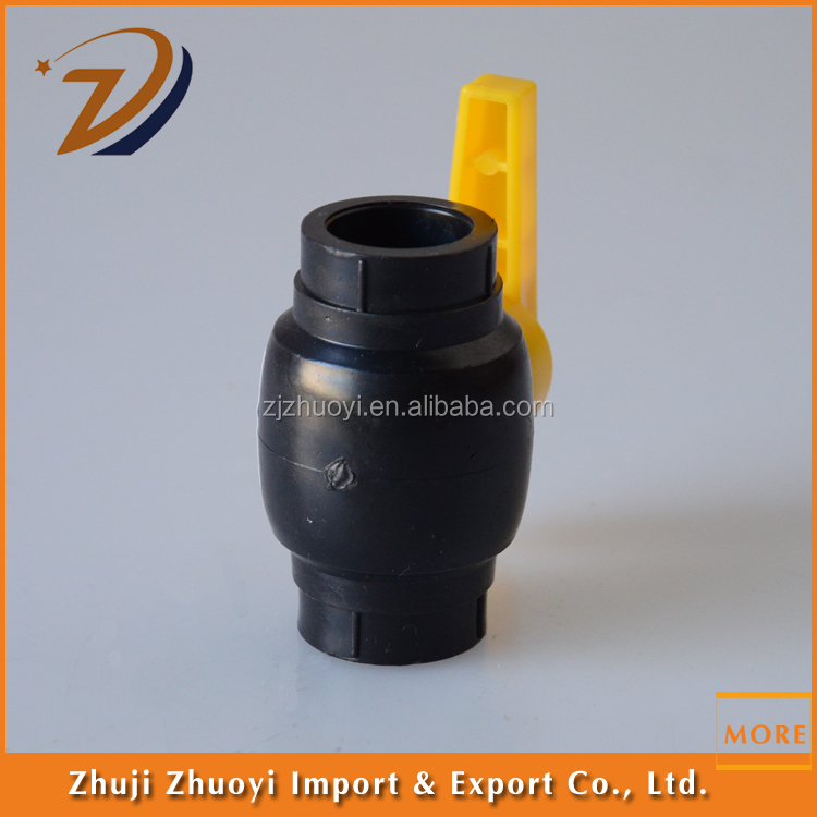 HDPE water pipe PE fitting ball valve and stop ball valve price