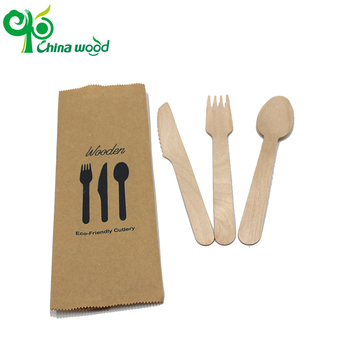 Wholesales different kinds of wooden cutlery salad forks chip fork