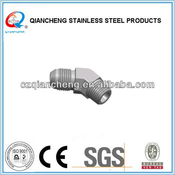"3/4"" Stainless Steel Thread Hex Fitting From Factory(Metric Thread 74 Cone Flared Tube Fitting)"