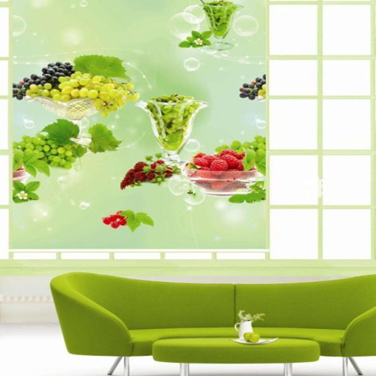 3d wall paper printed roller blinds custom size