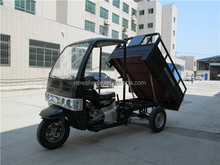 Cabin Seats Cargo / Passenger Motor Tricycle Single Exhaust With 12L Fuel Tank