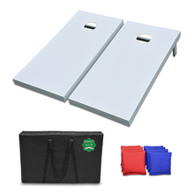PERFECT solid white bean bag toss game with 8 all weather bean bags and strong carry case