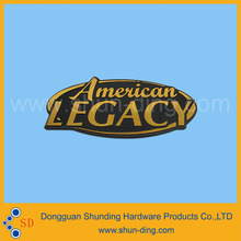 New Design Embossed Adhesive Metal Logo Sticker