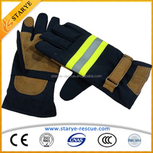 Safety Protective 6 Layers High Strength Fire Fighter's Working Gloves