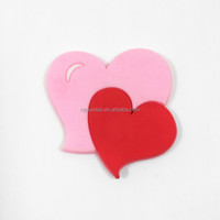 Promotional Lovely Heart Shape Soft PVC/ Rubber Souvenir Cartoon Fridge Magnet