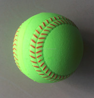 8.5inch PU small baseball with red seam