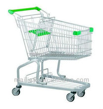 150L Germany style Supermarket Shopping cart four wheels bottom beer rack