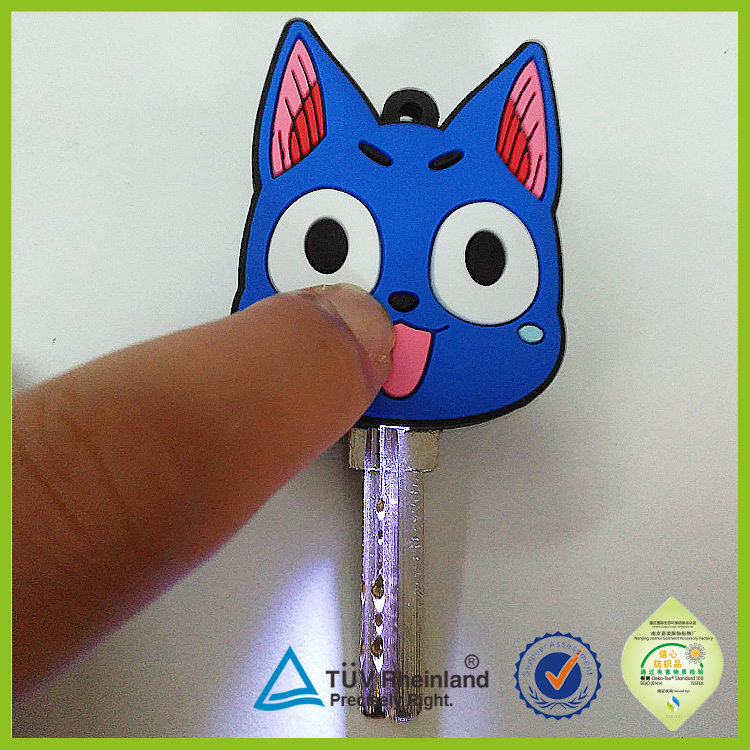 Custom OEM creative voice owl flashing LED keyring with key light factory directly
