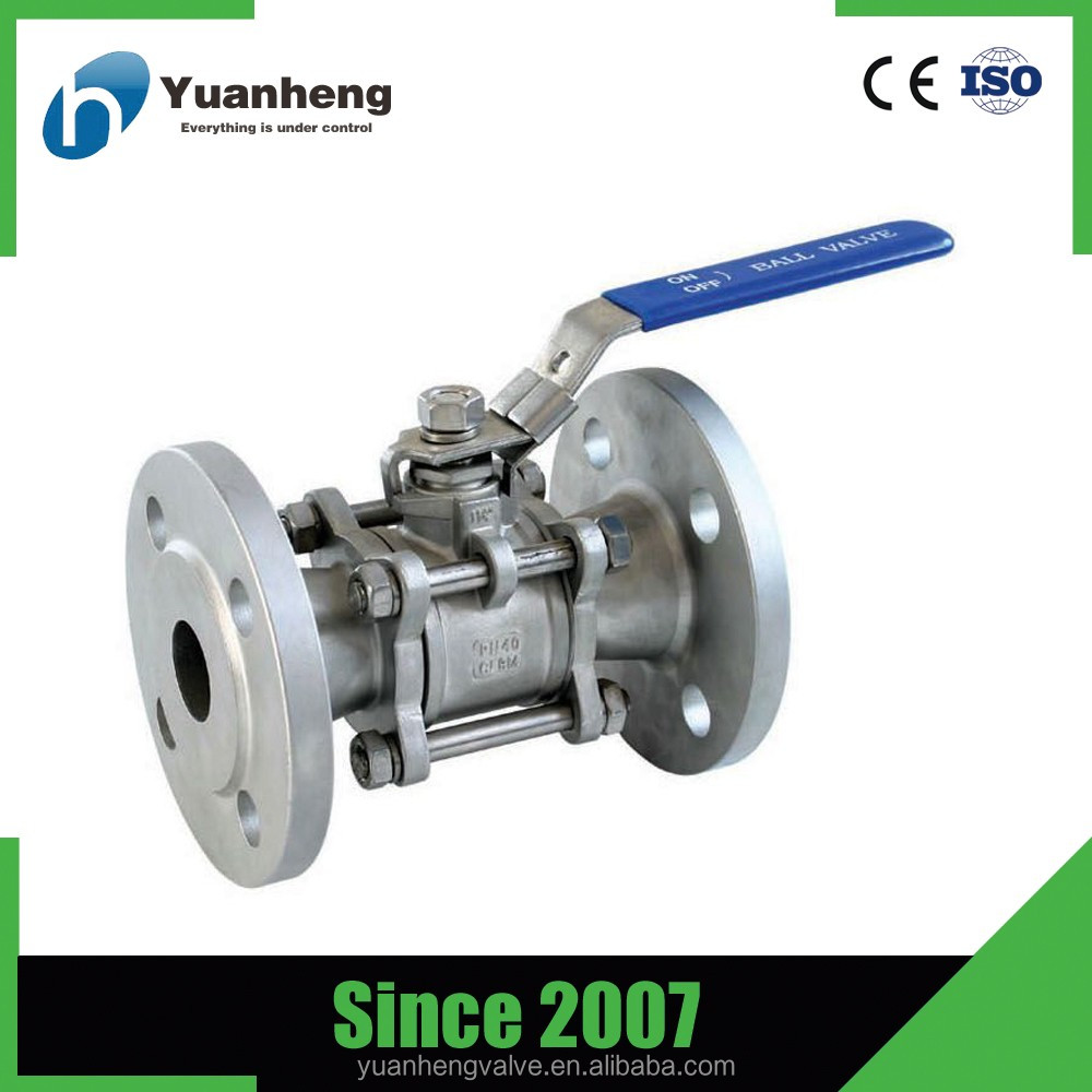 control ball valve flanged ss304