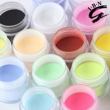 IBN latest bulk acrylic powder colours/coloured acrylic nail powder