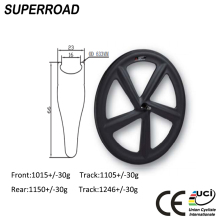 2018 Toray Fiber 700C Track 5 Spoke Clincher Bicycle Rims Carbon Wheels