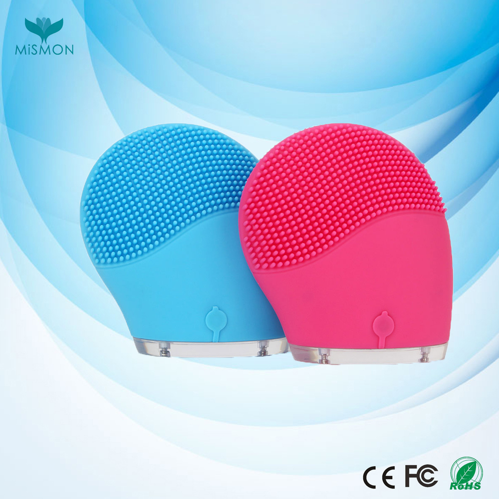 Waterproof Rechargeable Electric Silicone Facial Brush Face Blackhead Pores removal Cleansing Machine
