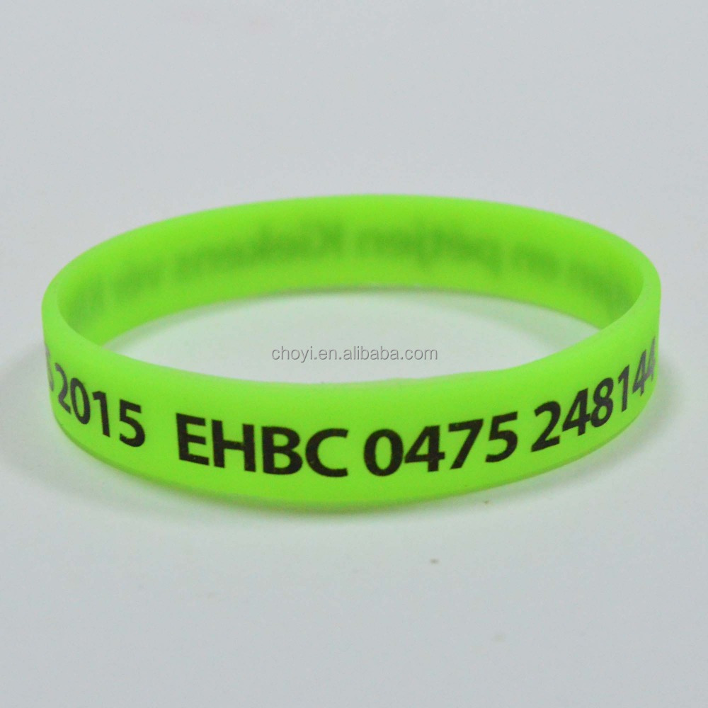 silicone rubber bands promotional silicon wrist band custome logo glow in the dark silicone bracelet