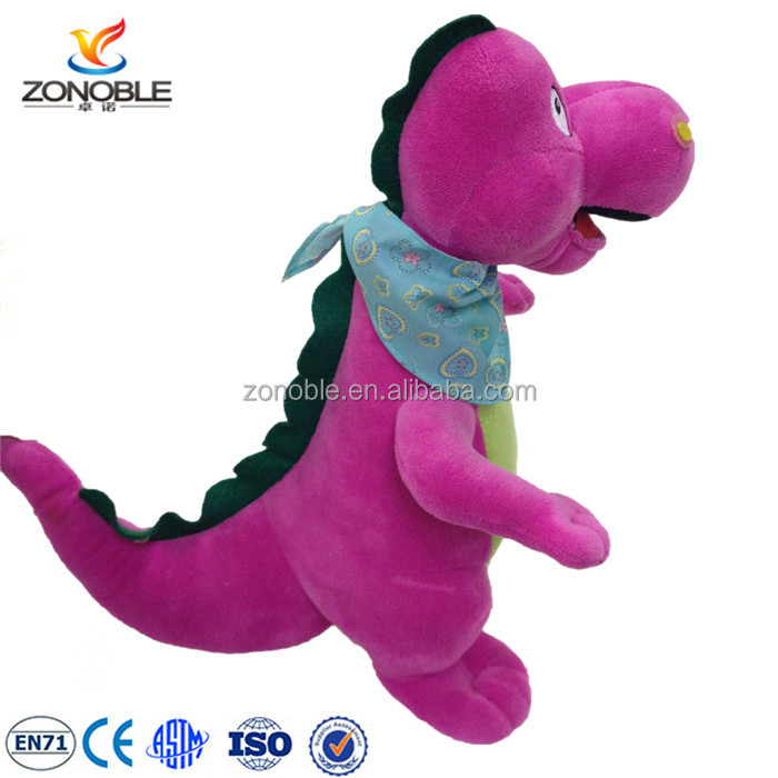 Pink plush toy toothless dragon with scarf cute dinosaur soft stuffed dragon plush
