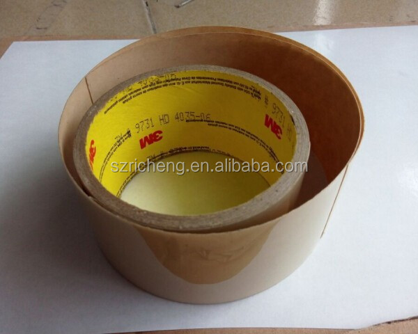 3M 9731 pet double sided adhesive tape with double release liner