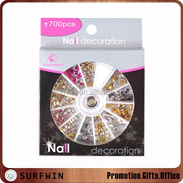 new products 2016 nail art metal stud nail art 3D nail tips