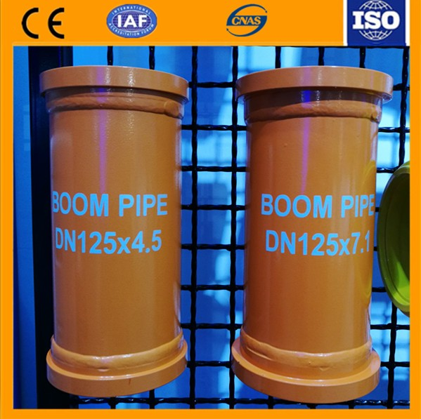 Medium frequency hardening concrete pump boom pipe