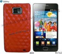 Red Color.Diamond 3D Effect Skin Back Cover Case for Samsung Galaxy S2 i9100