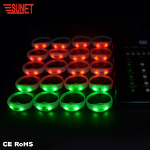 2018 New Football Team Silicon Led Lights Rfid Radio Controlled Led Wristband For