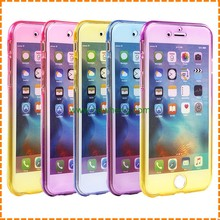 360 Degree Front + Back Ultra thin transparent TPU Cover Case For iPhone 7plus