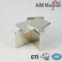 N35 10x10x2mm Block Zinc Coating Neodymium Magnet