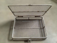 SS 304 / 316 square or round stainless steel wire mesh baskets for medical and storage