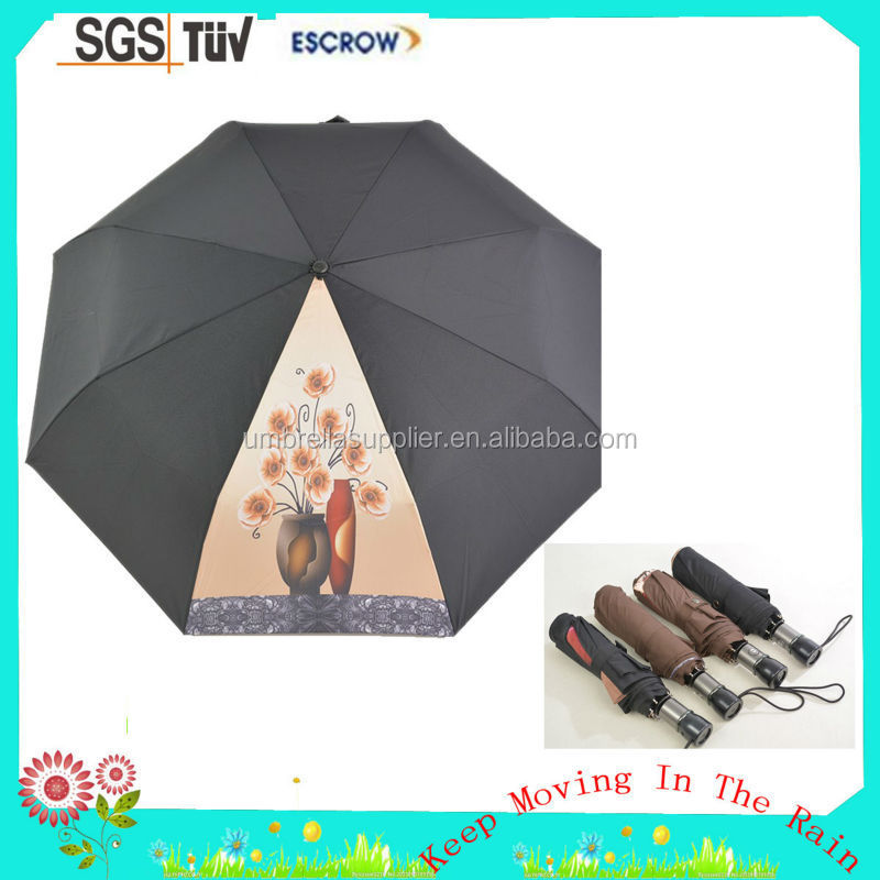 Hot selling advertisement automatic fold umbrella cost