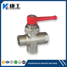 Online 300PSI Panel Mount Nickel Plated Brass In-Line Ball Valves