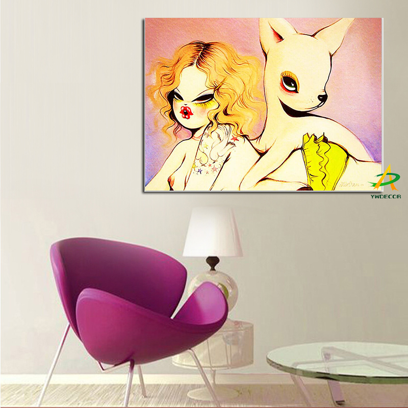 Supply For The Amazon home goods wall art Abstact canvas painting nude woman painting top quality promotion