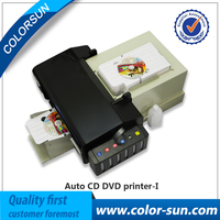 inkjet cd dvd disc pvc id business card printing machine with CE approval