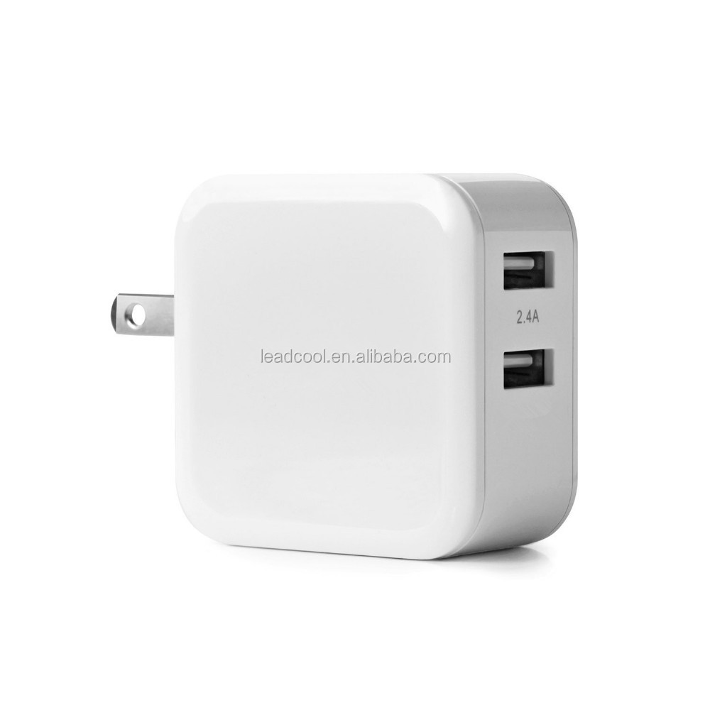 LC-19 QC3.0+2.4A*2/4.8A 30W Dual USB Wall Fast Charger Adapter Quick Charge