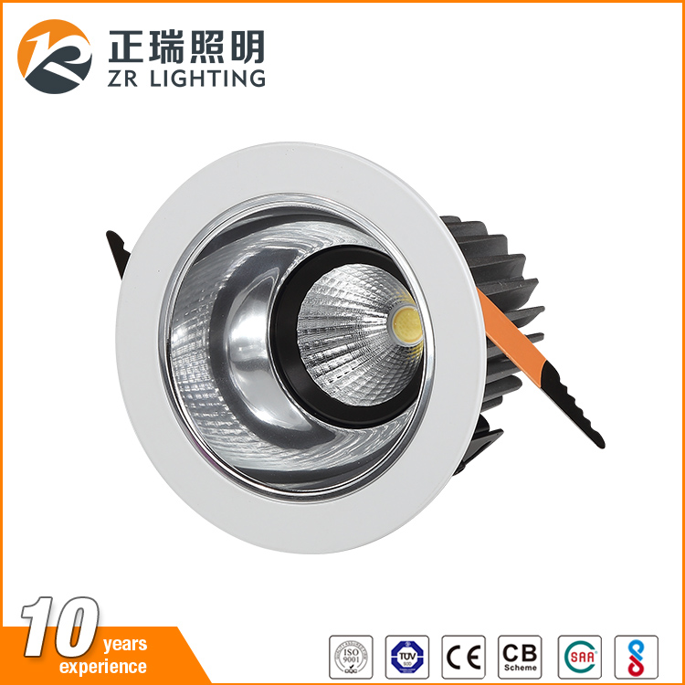 Factory direct sale 12W 20W 30W recessed cob led downlight for clothing shop