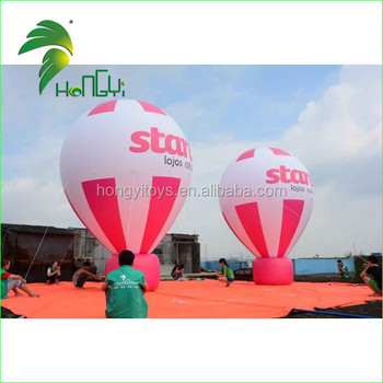 Colorful Giant Inflatable Hot Air Balloon , Inflatable Roof Top Balloons For Events