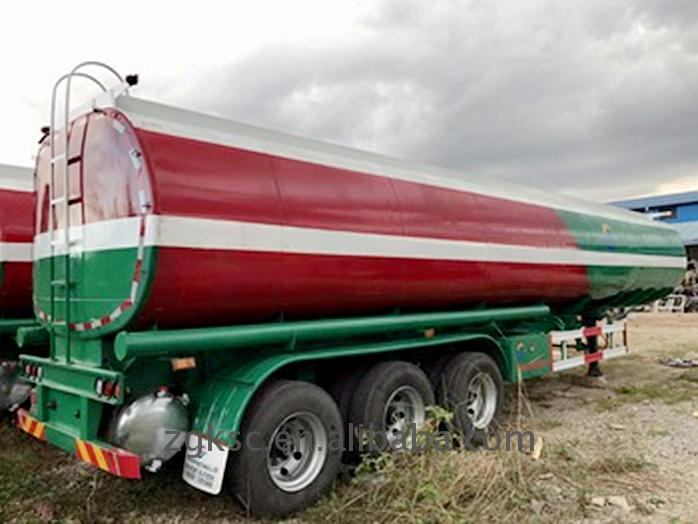 Modern design fuel tank transport trailer used oil tankers for sale With Bottom Price