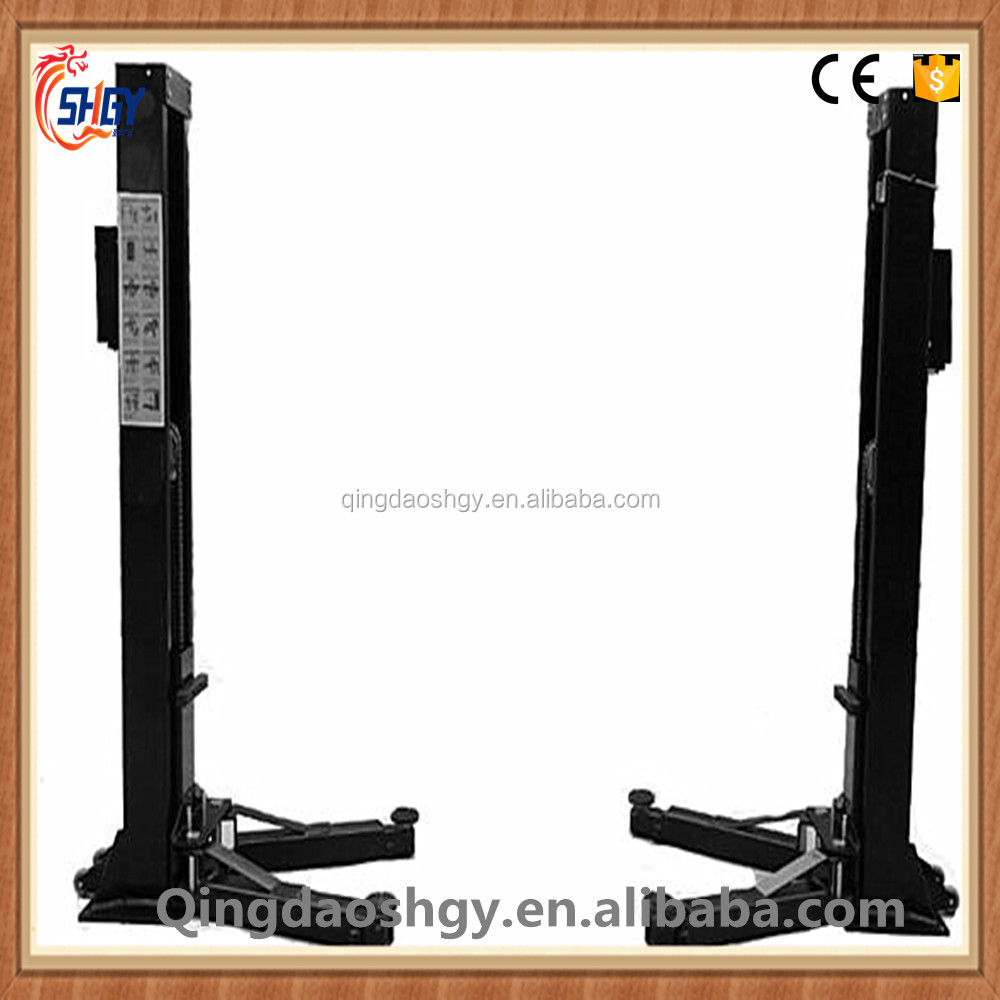 Double column mobile hydraulic 3.5T 2 post car lift