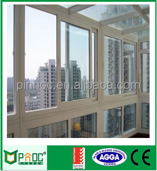 PNOC office interior aluminum frame double glass sliding reception window SW0011