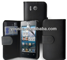 Leather flip mobile phone case cover tough for Huawei Ascend Y300