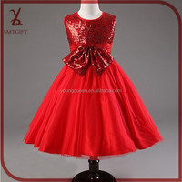 XD22 Baby girl bow princess dress sequined birthday party dress