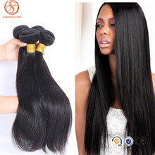 Wholesale 7a unprocessed Peruvian virgin hair silky straight human hair extension