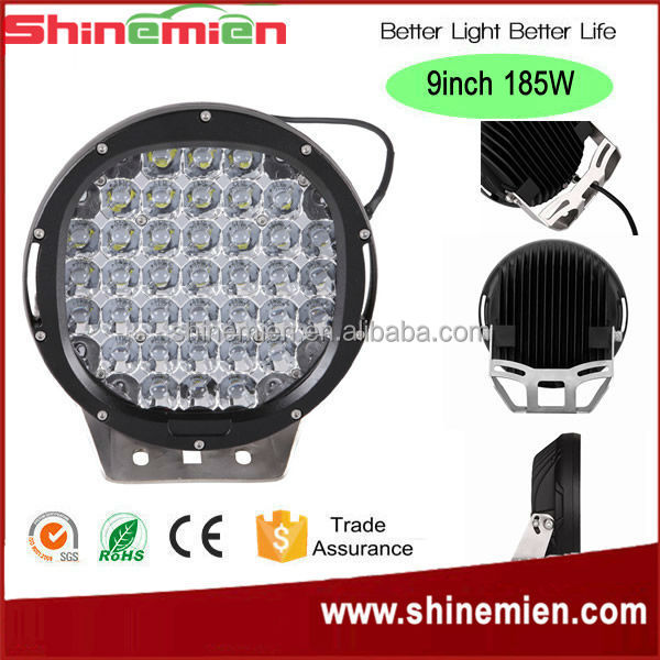Black 9INCH 185W CR-EE Led Spot Work Driving Light 4WD Offroad 9'' led driving lights