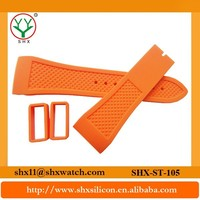 Shenzhen manufacture fashionable and eco-friendly silicone 26mm watch strap