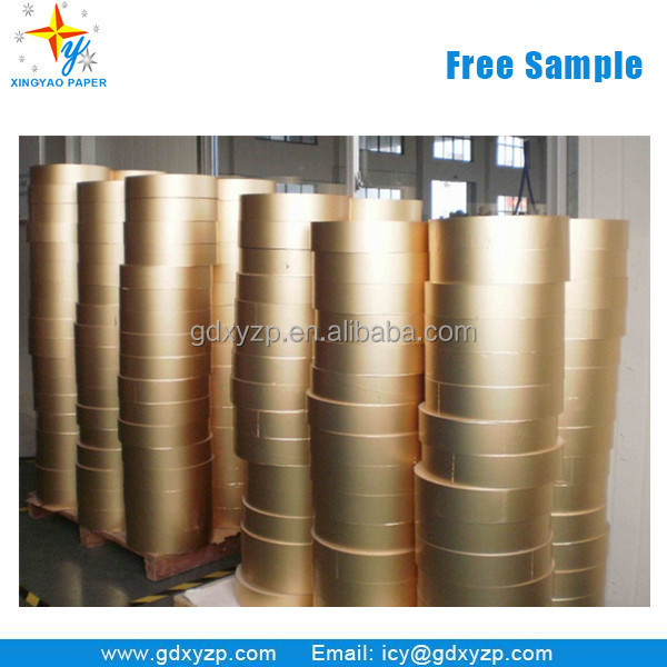 Gold Siver Aluminum Foil Laminated Wrapping Paper in Rolls for Cigarette Packet