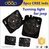 JEEP Amber turning light for jeep Indicator Lens LED Wheel Fender Flare for jeep Side Marker Lights
