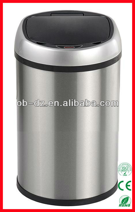 color code stainless steel electronic sensor bin