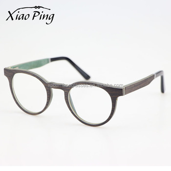 Italian Brands Design Hand Polished Black OAK Veneer Wood Eyewear Made In China